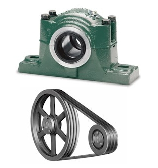 Blower Pillow-Block Bearings and V-Belt Drive Sets